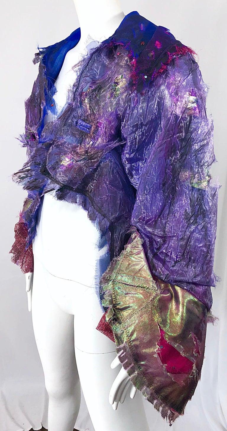 Paul Tazewell Tony Award Winner OOAK Purple Pink Rhinestone Custom Jacket For Sale 2
