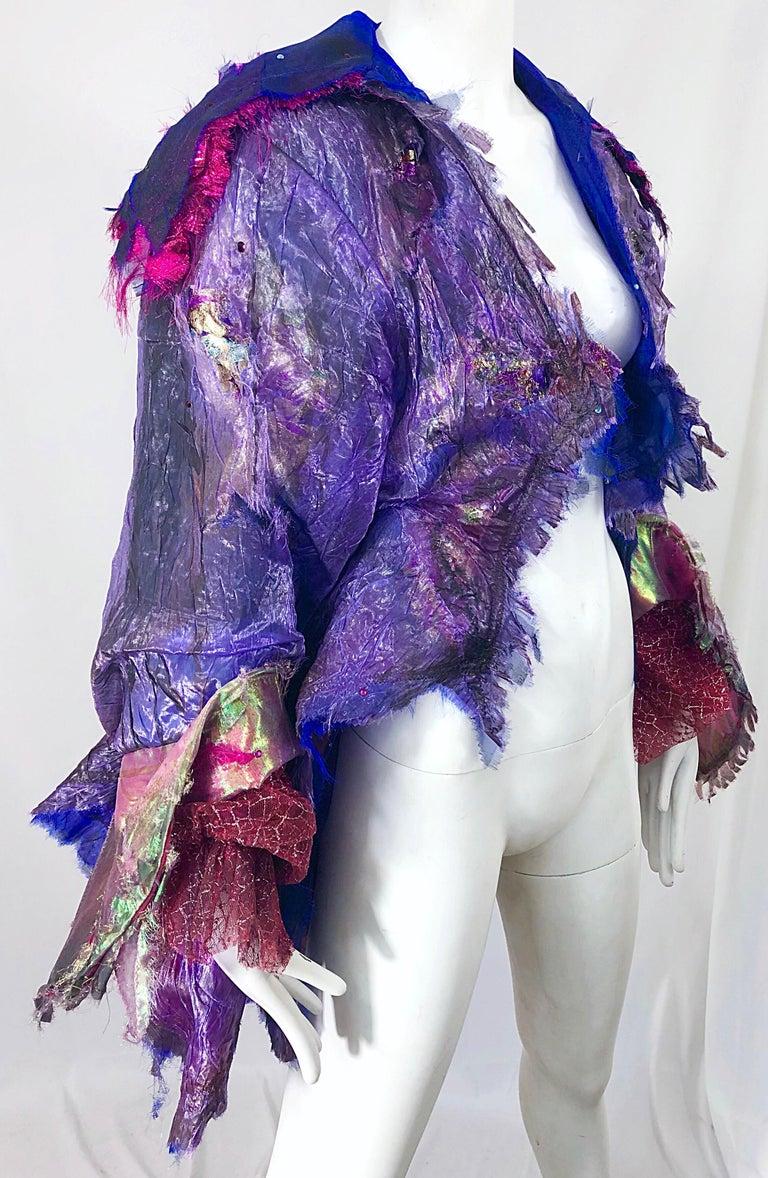Paul Tazewell Tony Award Winner OOAK Purple Pink Rhinestone Custom Jacket For Sale 4
