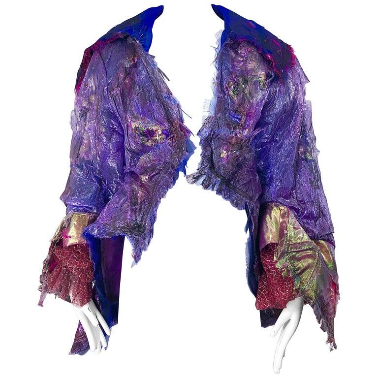 Paul Tazewell Tony Award Winner OOAK Purple Pink Rhinestone Custom Jacket For Sale