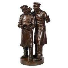Paul Thubert (English, 19th Century) A Large Bronze Sculpture of War Veterans
