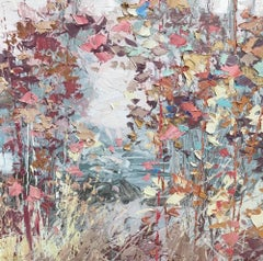 Autumn Flutter, a colourful abstract expressionist autumn painting