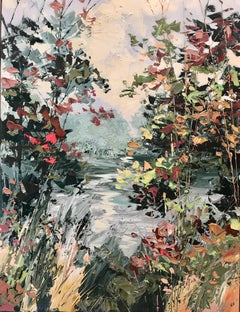 River Willow 2 - original new abstract landscape oil painting modern art 21st C