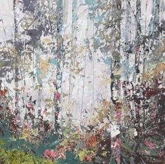Silver Moss, Oil on Canvas by Contemporary British Artist Paul Treasure