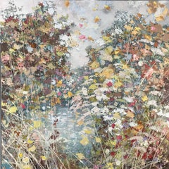 Water Vole - original abstract  landscape oil painting modern contemporary art