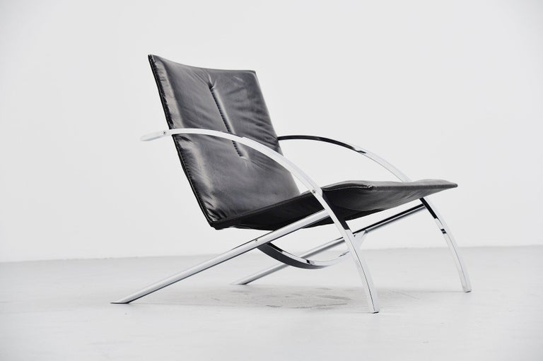 Swiss Paul Tuttle Arco Lounge Chair Strassle Switzerland, 1976 For Sale
