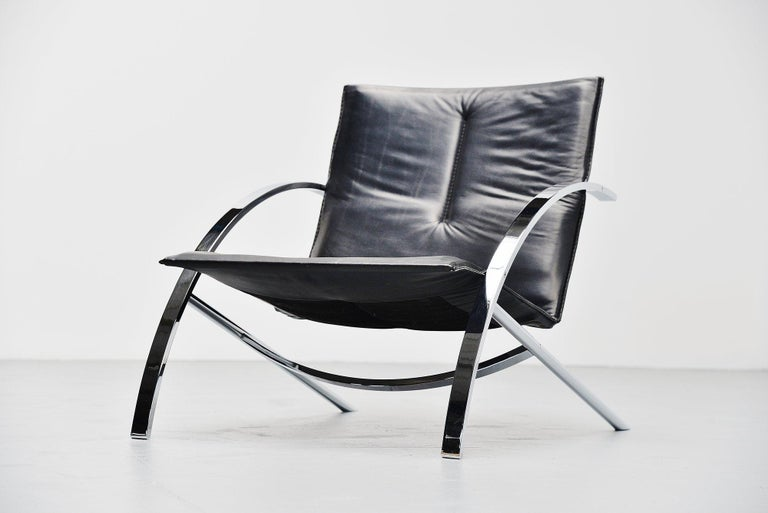 Paul Tuttle Arco Lounge Chair Strassle Switzerland, 1976 In Good Condition For Sale In Roosendaal, Noord Brabant