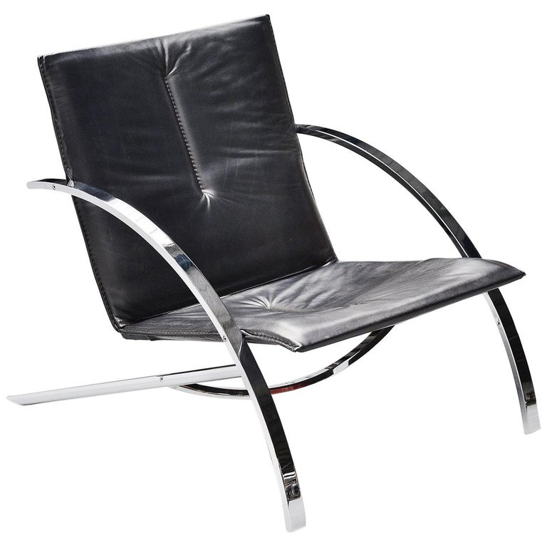 Paul Tuttle Arco Lounge Chair Strassle Switzerland, 1976 For Sale