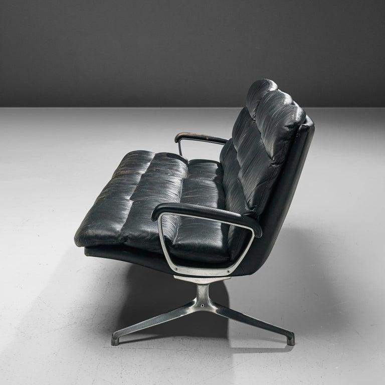 Cast Paul Tuttle Sofa in Black Leather