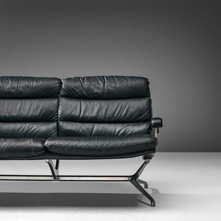 Paul Tuttle Sofa in Black Leather 1