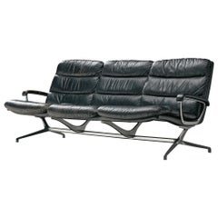 Paul Tuttle Sofa in Black Leather