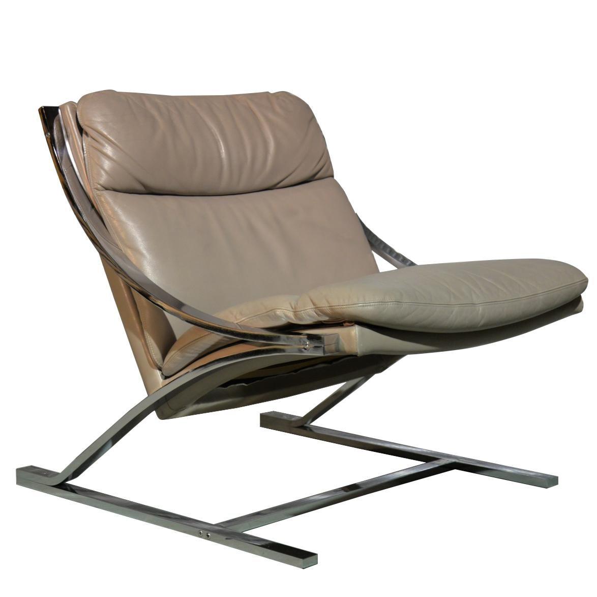 "Paul Tuttle ""Zeta"" Lounge Chair for Strassle of Switzerland, 1968"