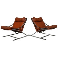 "Paul Tuttle ""Zeta"" Lounge Chairs for Strassle of Switzerland, 1968"