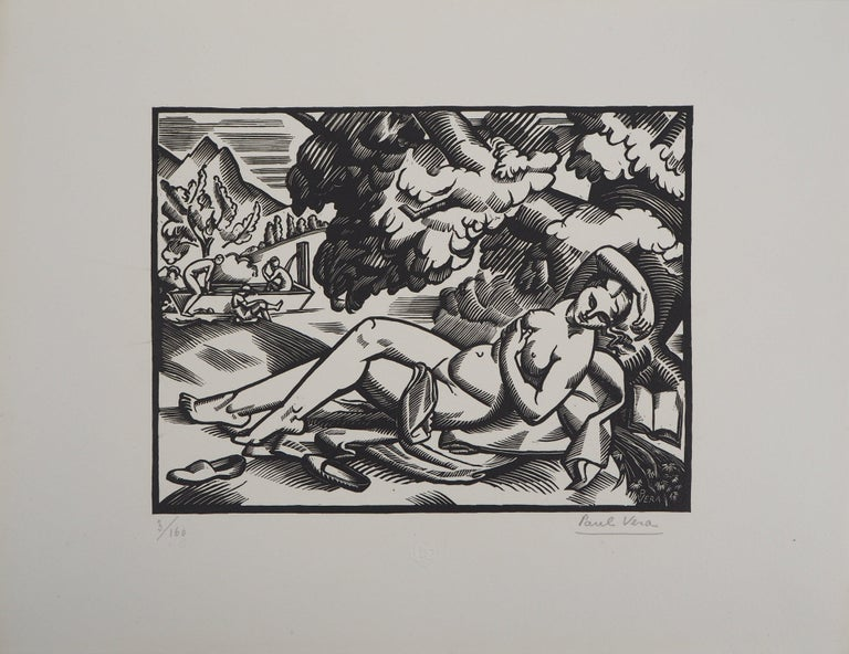 Summer - Original Wooodcut, Handsigned - Print by Paul Vera
