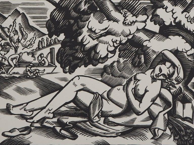 Summer - Original Wooodcut, Handsigned - Modern Print by Paul Vera