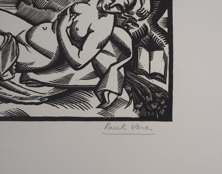Paul Vera Summer, 1924  Original woodcut Handsigned in pencil Numbered /160 On vellum 25 x 33 cm (c. 9,8 x 12,9 in)  Edited for the 'Imagier de la Gravure sur Bois' (5th year) and bears the blind stamp of the editor (Lugt 1140a)  Excellent