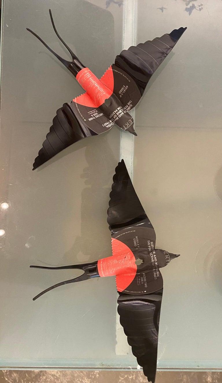 2 LP Vinyl Record Birds  - Sculpture by Paul Villinski