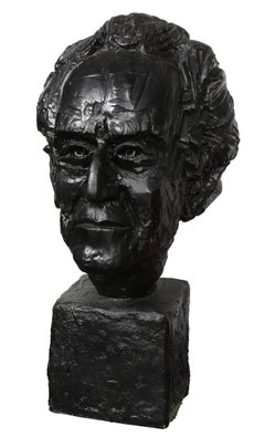 Bust of Alberto Giacometti, Sculpture by Paul von Ringelheim