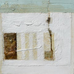 White Abstract: Contemporary abstract expressionist oil painting