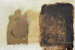 Brown And White Abstract:Contemporary abstract oil painting by Paul Wadsworth