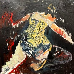 """""""Golden Corset"""". Contemporary Abstract Expressionist Oil Painting"""