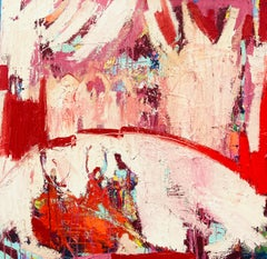 Indian Circus.  Contemporary Abstract Expressionist Oil Painting