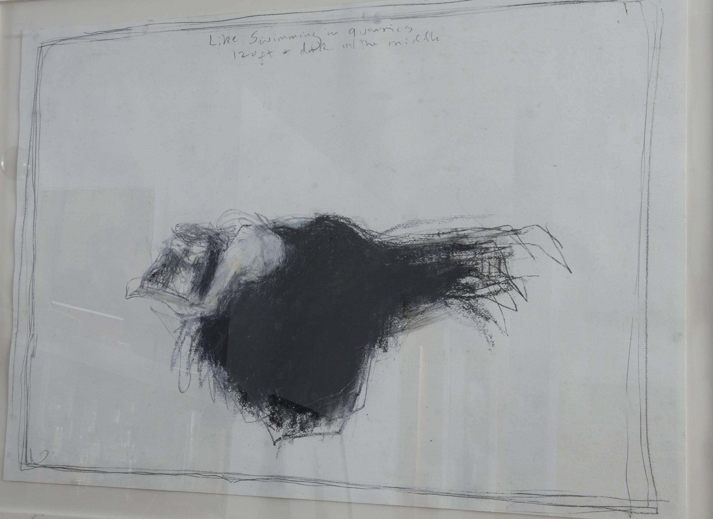 Like Swimming In A Quarry. Contemporary Figurative Drawing
