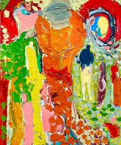 Sunshine Path.   Contemporary Abstract Expressionist Oil Painting