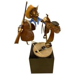 Paul Wegner circa 1986 Limited Edition Bronze Sculpture of a Cowboy