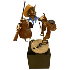 Paul Wegner circa 1986 Limited Edition Bronze Sculpture of a Cowboy