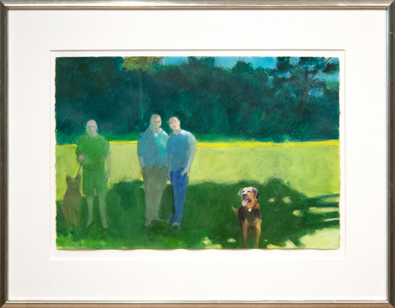Park with Figures and Dogs For Sale 1