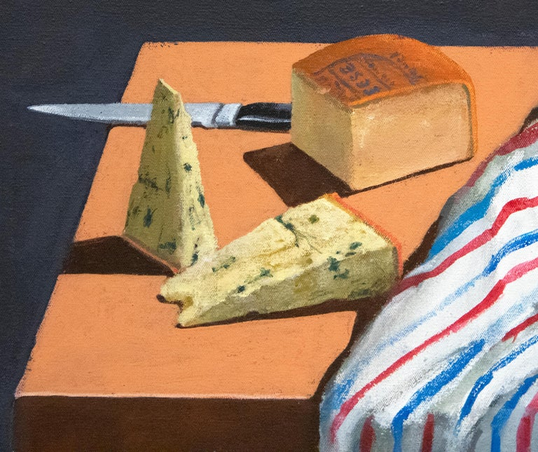 Striped Cloth with Fruit and Cheese For Sale 5