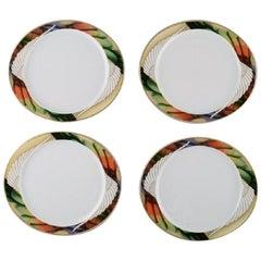 """Paul Wunderlich for Rosenthal, Four """"Mythos"""" Dinner Plates in Porcelain"""