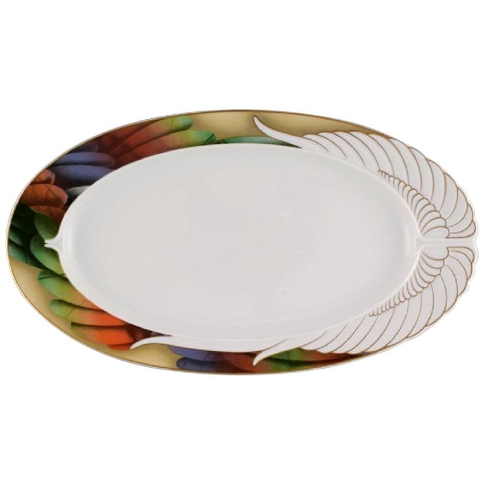 """Paul Wunderlich for Rosenthal, Large """"Mythos"""" Porcelain Serving Dish 1980s-1990s"""