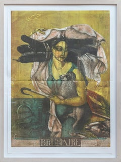 Brumaire, Large Expressionist Lithograph by Wunderlich