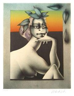 Composition - Original Lithograph by P. Wunderlich - 1977