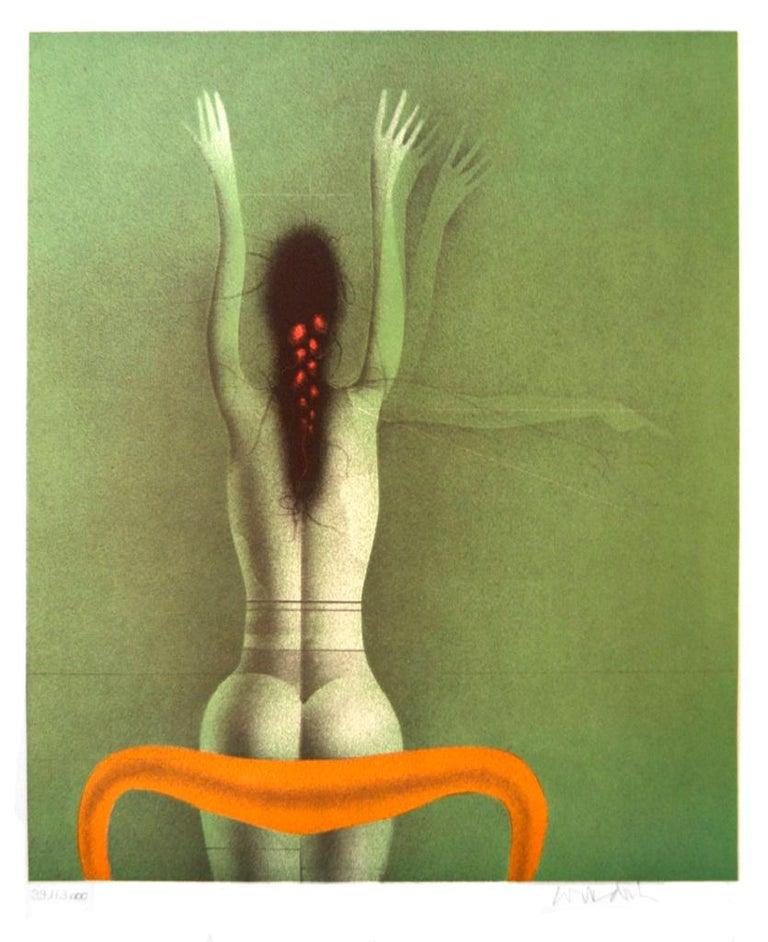 Paul Wunderlich Figurative Print - Grune Frau