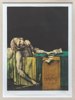 Marat, Large Surrealist Lithograph by Wunderlich