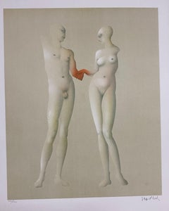 "Paul Wunderlich, Ltd. Ed. Original lithograph, hand signed, ""Adam und Eva"""