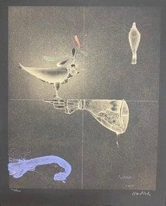 "Paul Wunderlich, Original lithograph, hand signed, ""Handschuh und Falke"""