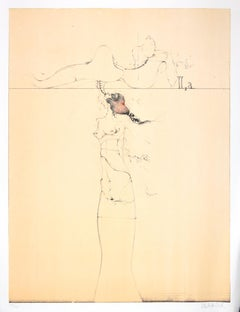 Untitled - Original Lithograph by Paul Wunderlich - 1970