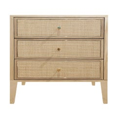 Paula Bedside Chest of Drawers Natural Ash