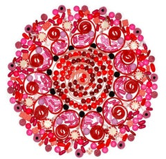 Ring Around the Rosey, Candy Mandala, Limited Edition Photograph, framed