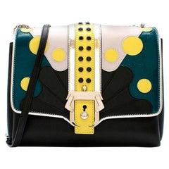 Paula Cademartori Black Leather Alice Shoulder Bag
