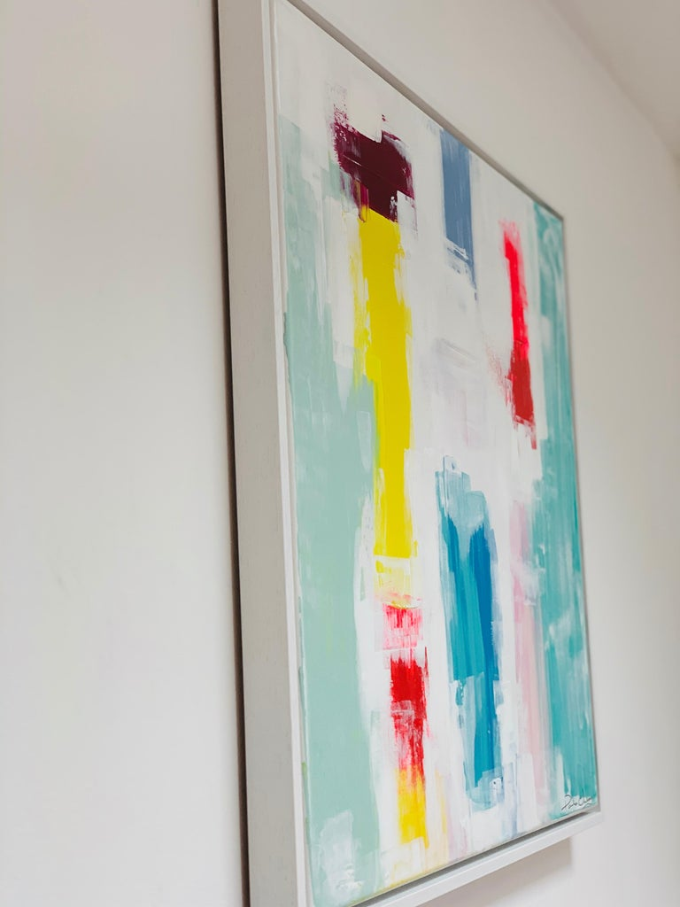 Paula Cherry, Spring Life, Original Painting, Abstract Art, Affordable Art For Sale 2