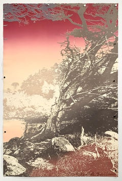 "1980s ""Day's End Land's End II"" Original California Landscape Silkscreen"