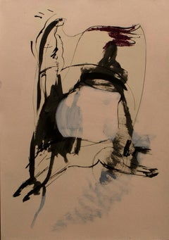 Forma 5 - painting, paper, contemporary, young artist, German, muted colours