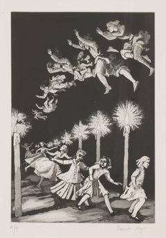How Many Miles to Babylon -- Print, Etching, Nursery Rhymes by Paula Rego