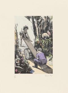 See-saw, Margery Daw -- Print, Etching, Nursery Rhymes by Paula Rego