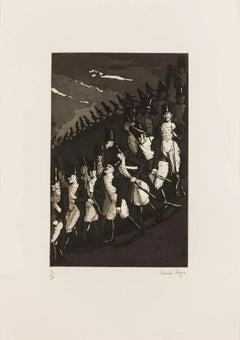 The Grand Old Duke of York -- Print, Etching, Nursery Rhymes by Paula Rego
