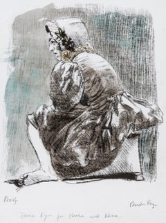 Untitled [Jane Eyre] -- Print, Lithograph, Hand-coloured, Art by Paula Rego